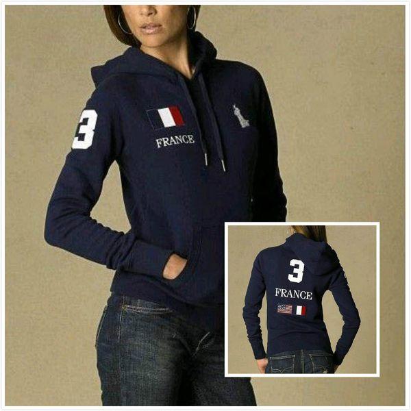 Ralph Lauren donna felpa con cappuccio donna progettista hoodie lusso classico ispessimento polo di cotone felpa modello del cavallo moda maglione di alta qualità