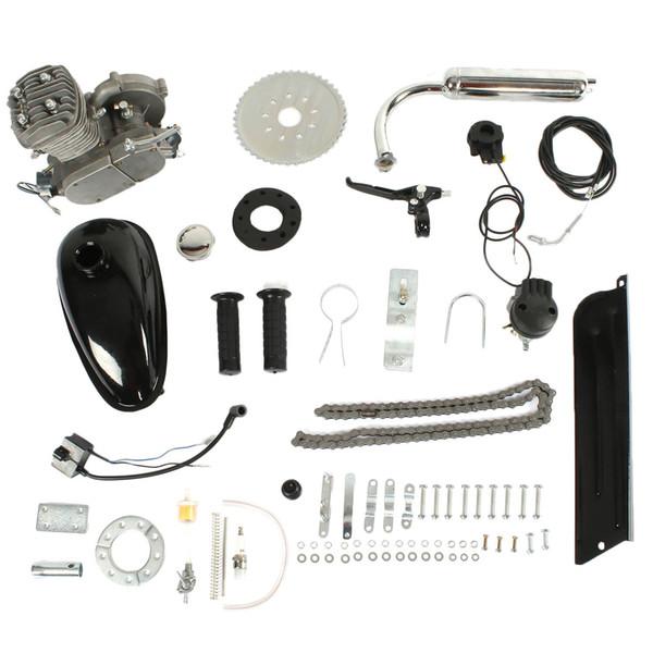 Kit motore benzina 80cc, monocilindrico, raffreddamento ad aria, motore a benzina a due tempi, parte del motore della bicicletta