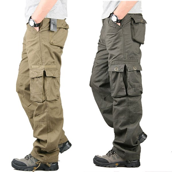 Cargo Pants Men Tactical Pants Army SWAT Active Combat Clothes Male Baggy Casual Multi Pocket Work Overalls Trousers