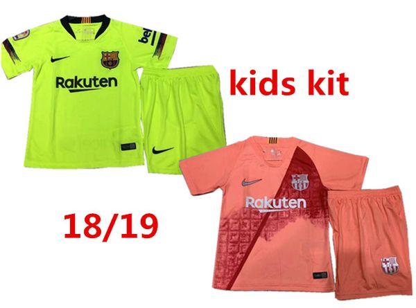 82b6f9a27 2019 Kids Kit Barcelona home Football Jersey 18/19 #10 MESSI Away Boy Soccer