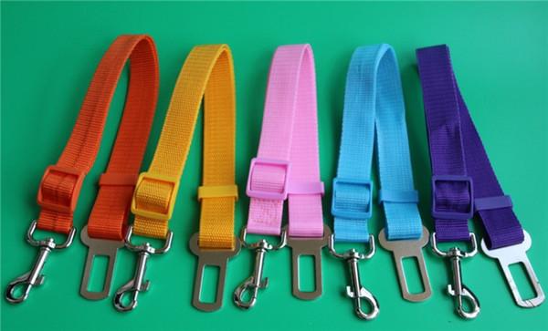 best selling Cat Dog Car Safety Seat Belt Harness Adjustable Pet Puppy Pup Hound Vehicle Seatbelt Lead Leash 17 Colors 100pcs