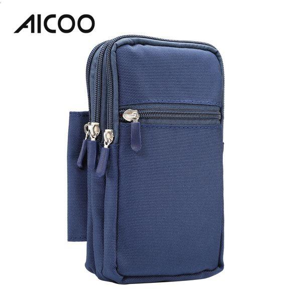 AICOO Männer Multifunktions Handytasche 7,0 Zoll 4 Casual Sporttasche Hängen Stift Set für Samsung 5100 Tablet Huawei P10 OPP Tasche