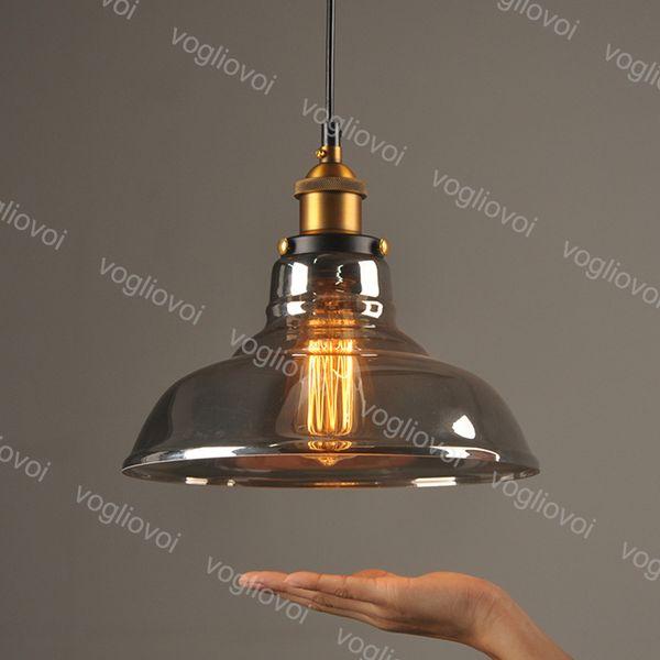 Pendentif Lampes 90 ~ 260V Vintage Clothing Loft Industriel lampisterie plafond de verre Edison Ampoule pendentif Lampes Retro Bar Fixture Luminarias DHL