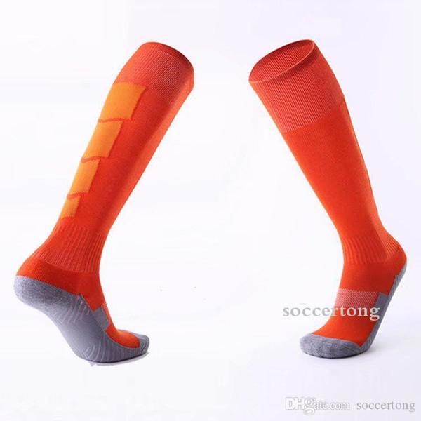 New Hot vente Hommes équipe de football de bas Diverses couleurs Personnalisation long Bas Antiskid Football Chaussettes de sport # C2019201093CM