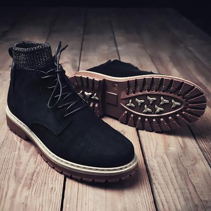 Men'S Autumn Winter 2019 Martin Boots Men'S Korean Version Of The Trend Of Versatile High Top Boots Men'S Fashion Shoes Peep Toe Booties Cat Boots
