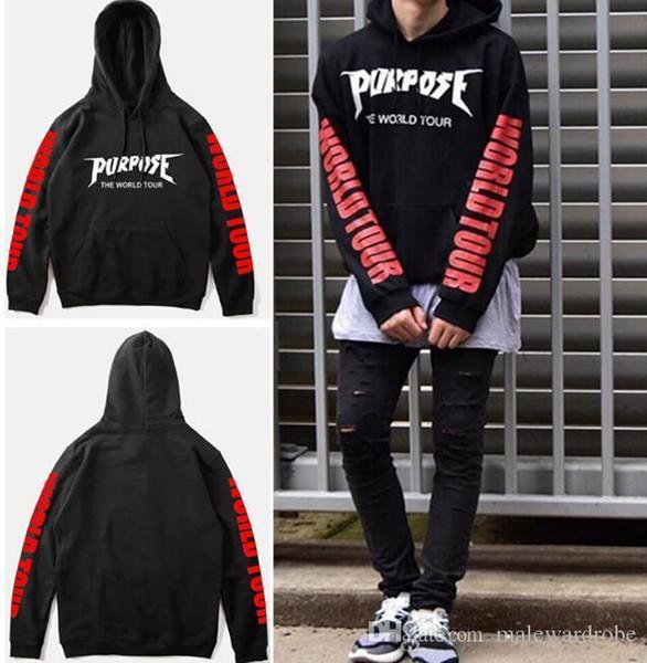 Purpose Tour Hoodies Men Justin Bieber Purpose Tour Hoodie Kanye Streetwear Sweatshirts Men Swag Tyga Hoodie