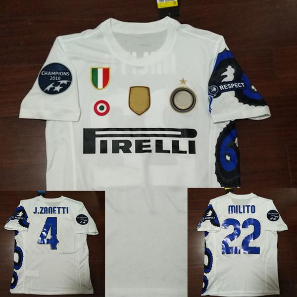10-11 camisa de futebol retro Sneijder Materazzi Samuel J. Zanetti Milito Eto'o Cambiasso 2010 2011 camisas de futebol Vintage camisa de futebol Maill