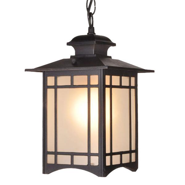 Vintage Glass Chandeliers Ball Outdoor Pendant Lamp Balcony Waterproof Aluminum E27 Bulb Garden Hanging Lamp Loft Suspension Luminaire Home