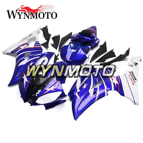 Комплект мотоциклетных обтекателей для Yamaha YZF 600 R6 2008 - 2016 09 10 11 12 13 14 15 Обтекатель мотоцикла ABS, пластиковый капот, комплект Gross Blue