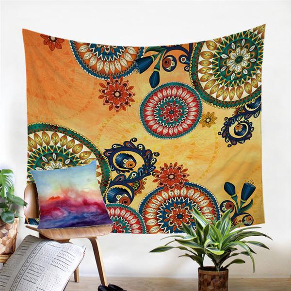 Bohemian Dekoratif Wall Art Mandala Çiçekler yatak örtüleri Etnik Sac 150x200cm Asma Kaleidoscope Goblen Duvar