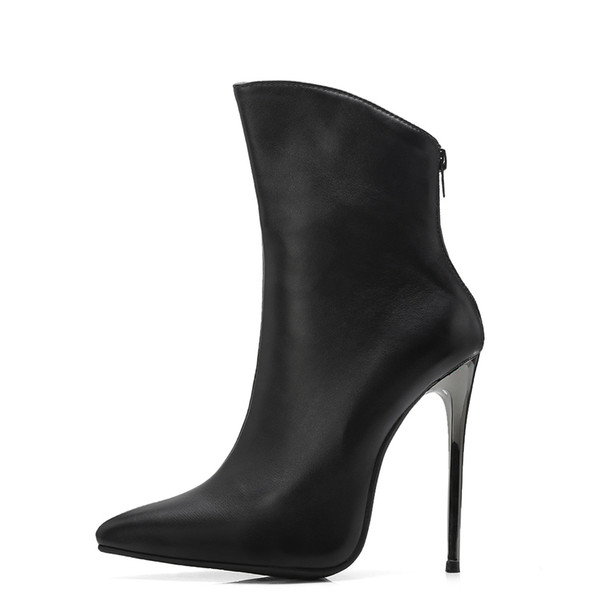 New Sexy Black White Women Stripper Boots Vogue Super High Heels Lady Pole Dance Shoes