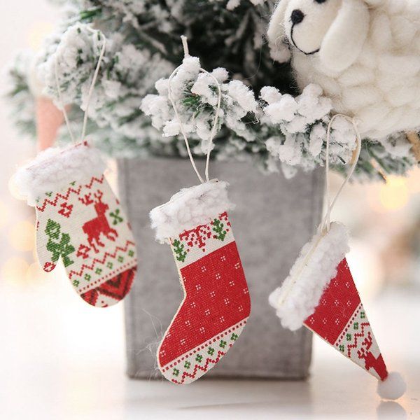 Christmas Shoes Diy.Christmas Hanging Ornament Xmas Tree Diy Wooden Christmas Hat Gloves Shoes Pendant Decoration For Home New Year Decor Christmas Decorations To Buy