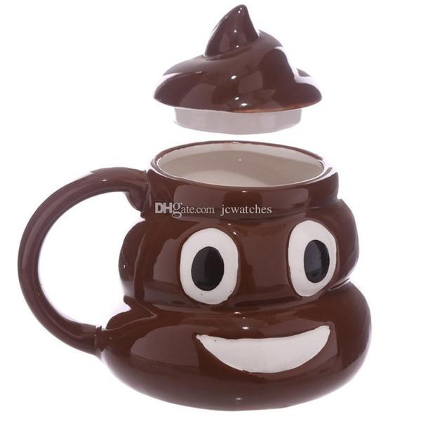 3D Céramique Conception Merde Tasse Emoji Tasses Émoticône Smiley Tasse À Café Tasse À Thé avec Boîte Au Détail Paquet Fedex Livraison Gratuite