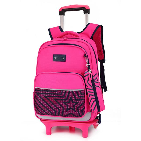 Removable Children School Bags Wheels bags Girls boys Trolley school Backpack Kids schoolbags Wheeled Bag Bookbag travel luggage