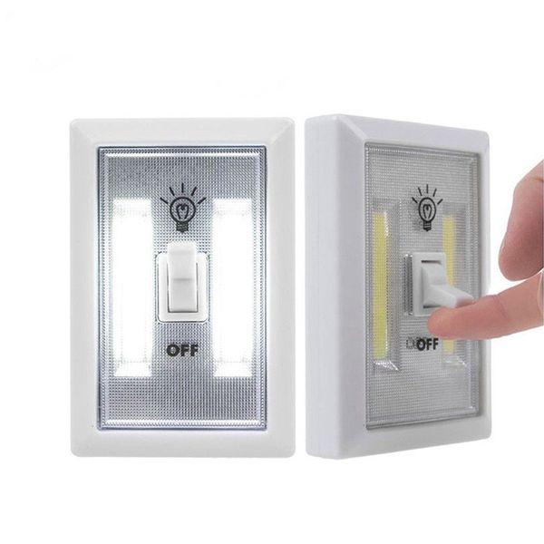 LED Night Lights Magnetic Mini COB LED Cordless Light Battery Operated Wireless Wall Lamp Kitchen Cabinet Garage Closet Camp Emergency Lamp