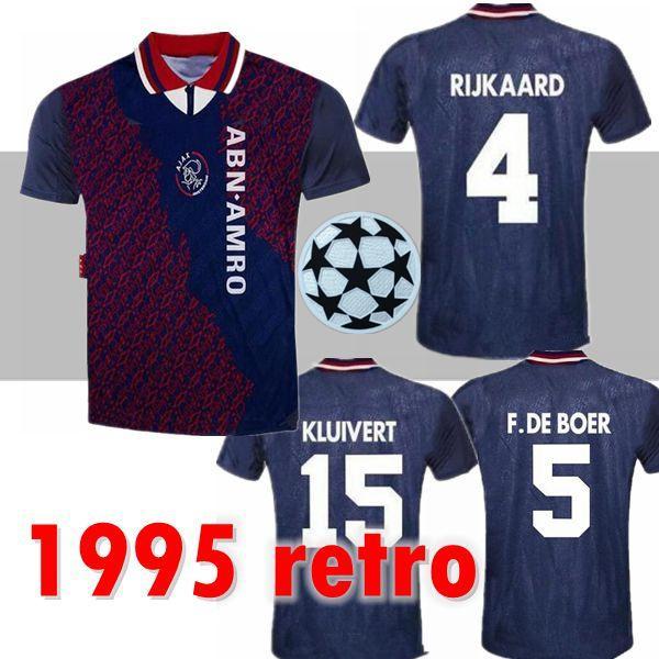 1994 1995 Ajax retro futbol forması 94 95 RIJKAARD KLUIVERT LITMANEN DE BOER ÇEKİRDEĞİ DAVIDS ÇEKİRDEĞİ GENEL MEKANLAR vintage klasik futbol gömlek