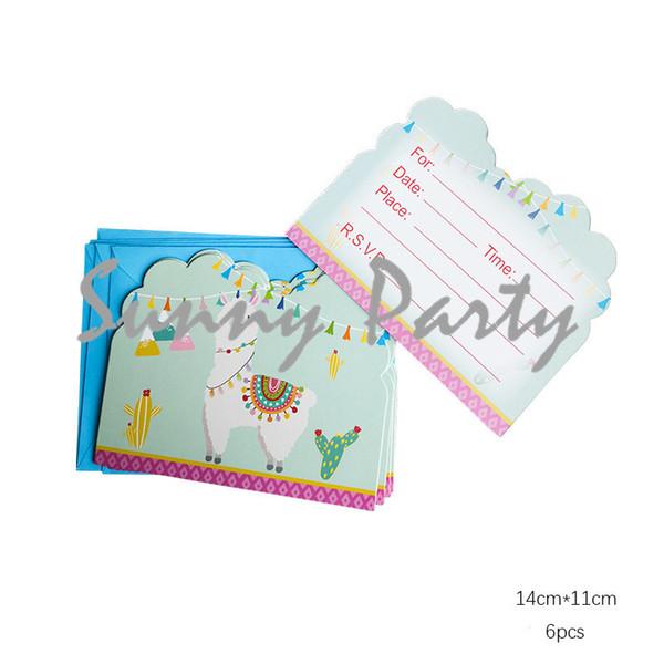 Cartoon Alpaca Theme Party Invitation Card Kids Birthday Baby Shower Party Invitation Card Supplies Free Greeting Card Online Free Greeting Cards