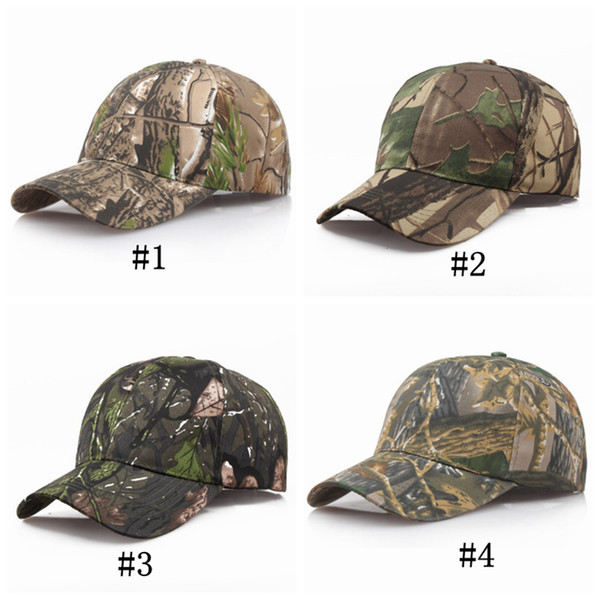 best selling Men And Women Snapback Cap Sunshade Couple Baseball Hats Tourist Camouflage Fishing Ball Hats For Camping Equipment 4 Colors ZZA1045