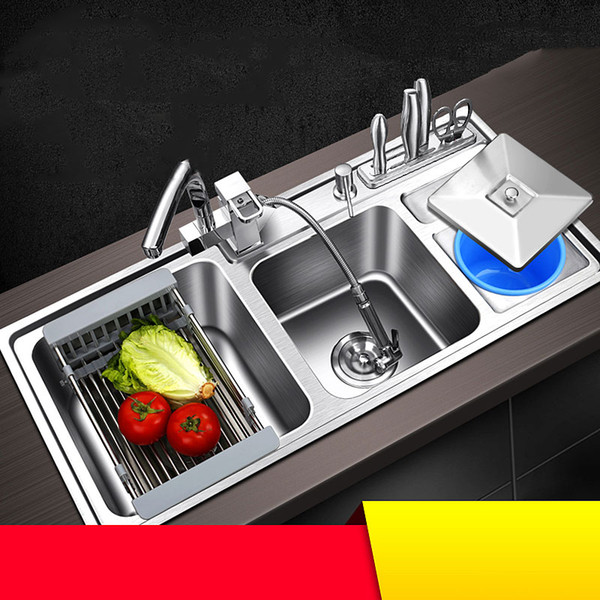 best selling kitchen sink stainless steel double bowl above counter or udermount sinks vegetable washing basin 1.2mm thickness sinks kitchen