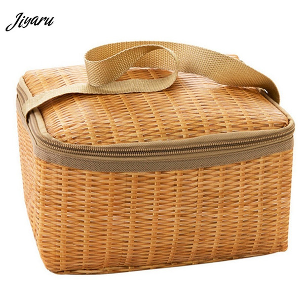 2019 New Lunch Bag Portable Insulated Thermal Cooler Lunch Box Tote Storage Bag Picnic for Women Children Solid