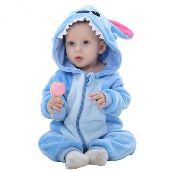 jumpsuit onesie HaiCospl Flannel Baby Kigurumi Pajamas Newborn Infant Romper Animal Onesie Costume Hooded Jumpsuit Winter Spring Suit