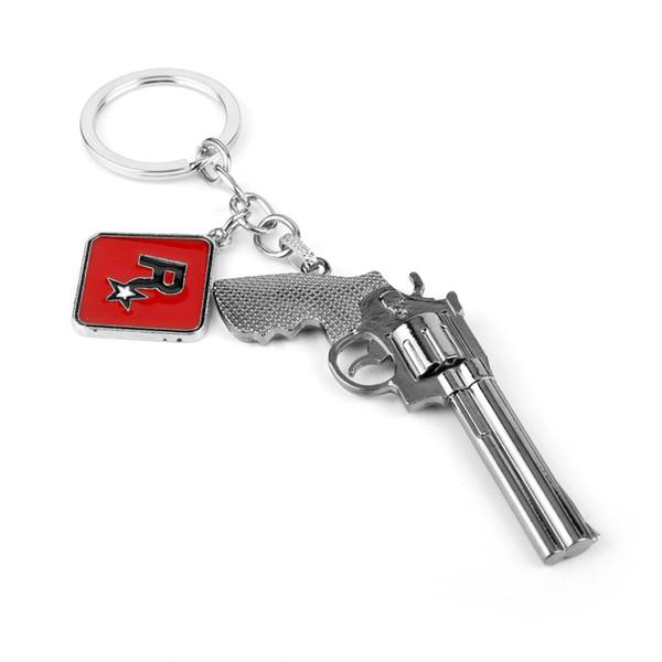Красный Мертвый Выкуп 2 Брелок Пистолет Модель Кулон Брелок Сумки Брелок Автомобиля Брелок Мода Брелок Брелок