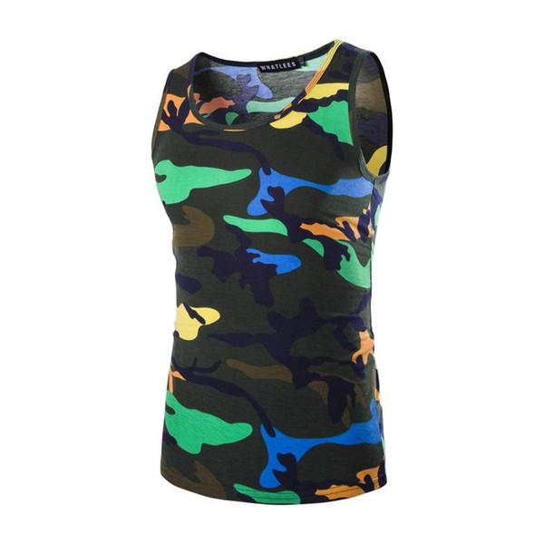 Tank Top Erkekler Kamuflaj Üst Tasarım Sıcak Satış Kolsuz Gömlek Vücut Moletom Kamuflaj Tankı Casual Giyim Erkek Tops
