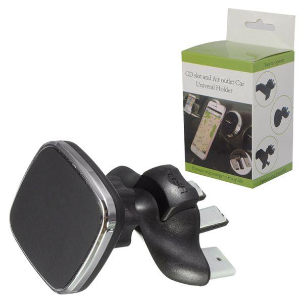 Slot de cd de carro magnético air vent suporte do telefone celular montar suporte de telefone universal ajustável para iphone samsung huawei