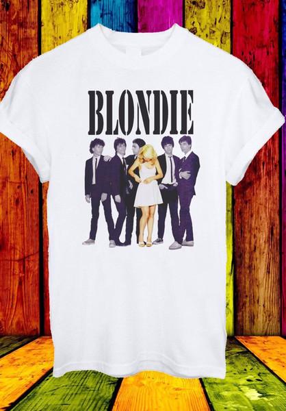 Debbie Harry Blondie Şarkıcı Kaya Pop Disko Müzik Erkek Kadın Unisex T-shirt