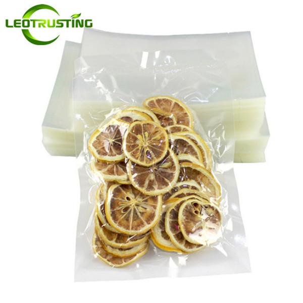 Leotrusting 200pcs/lot High Clear Open Top Plastic Vacuum Bag Plastic Heat Sealing Packaging Bag Food Snack Nuts Meat Vacuum Storage Bags