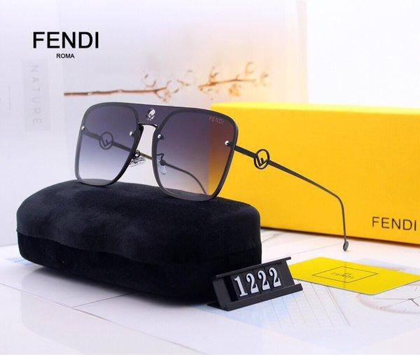 Nouvelle arrval 2019 marque Homme lunettes de soleil ff justin modèle pour femme designer mode FF gros logo polarisé UV400 lentilles avec boîte d'origine