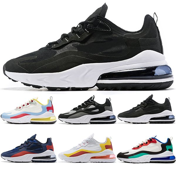 2019 React Men Women Running Shoes Bauhaus Optical Oreo Triple Black White Designer Mens Trainers Sports Sneaker Size 5.5-11 Free Shipping