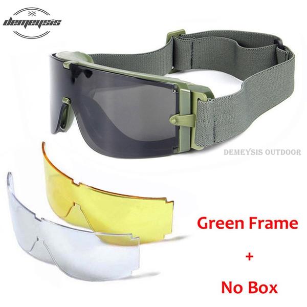 no box green frame
