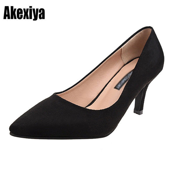 Dress Women Pumps High Heels Shoes 5cm 7cm 9cm Stiletto Pointed Toe Woman Sexy Party Shoes Office Lady High Heels Size 35-39 D292