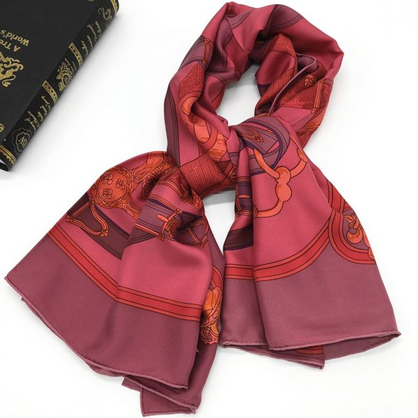 Brand new style women's square scarves 100% silk high quality print Embellished size 130cm - 130cm