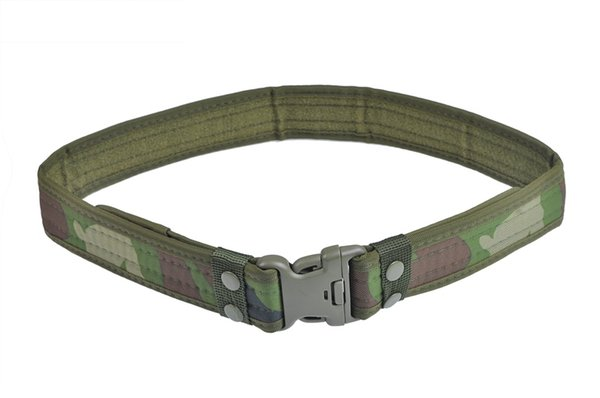 New Woodland Camo Cintura cintura Tactical Hunting Outdoor Sports Field Cintura militare vendita # 515524