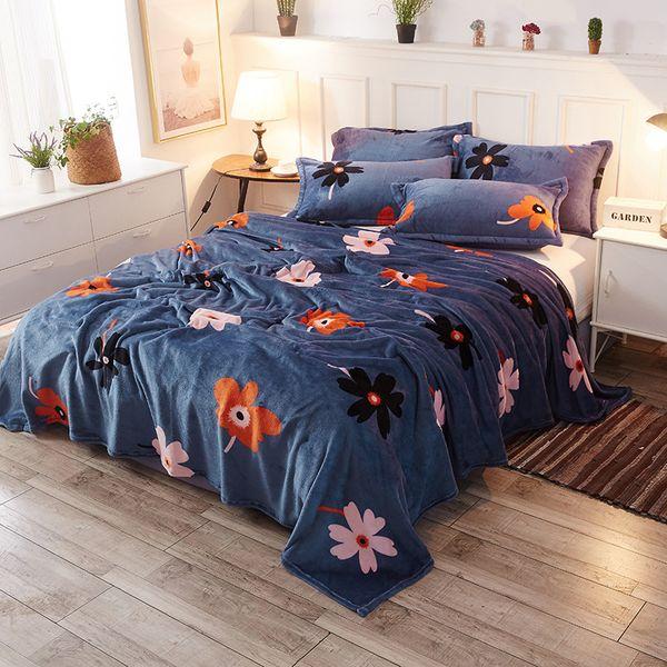 high density flowers travel fleece blanket autumn decorations for home soft bedspread blanket for bed