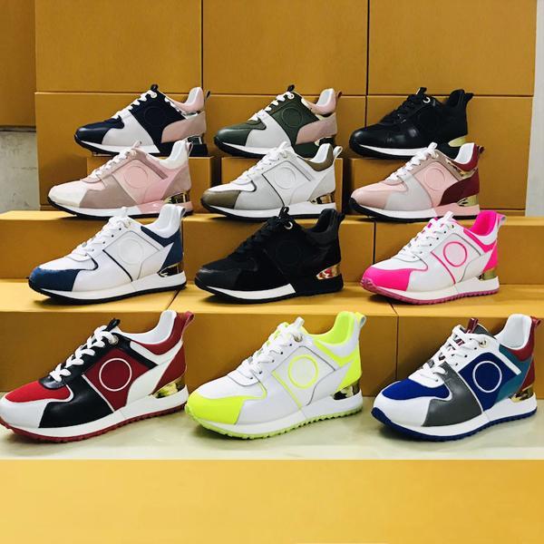 Фирменные Run Away Дизайнерские кроссовки Женщина Мужчина Обувь из телячьей кожи Mesh