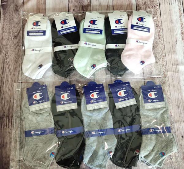 Unisex Champion Ankle Socks Women Men Brand Anklets with Tag Summer Socks Low Cut Luxury Designer Sport Short Sock Slipper Boat Socks C61305