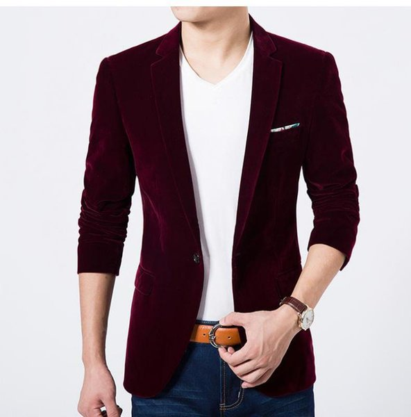 Wine Red Blazer Man