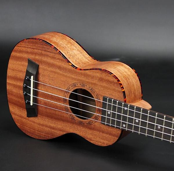 Spedizione gratuita standard 21 pollici rosso tartarugato mogano ukulele Hawaiian chitarra a 4 corde