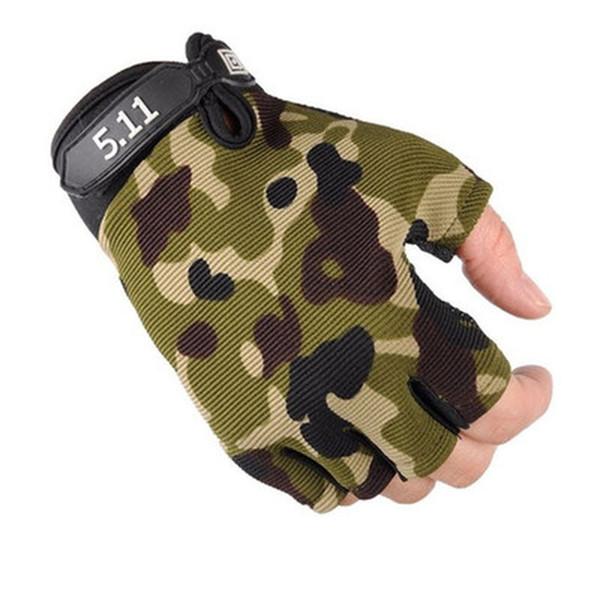 Camouflage Men Women Half Finger Gloves Breathable Sports Gloves Antiskid Cycling Bike Gym Fitness Sports Half Finger Glove