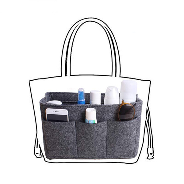 Felt Makeup Organizer For Handbag Insert Bag Purse Tote Storage bag,Cosmetic Bags Toiletry Bags Fits for Travel Organizer