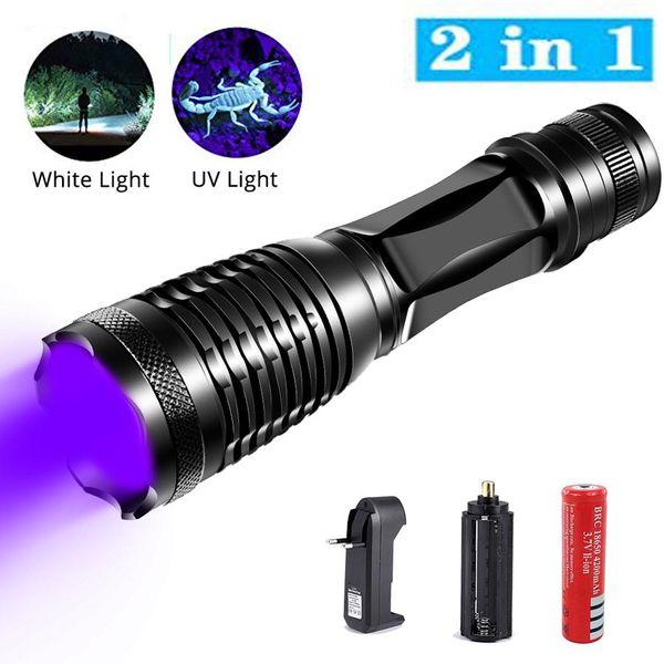 Pet Stain Ultra Violet Lampe de poche lumière UV Torche DEL Détecteur Lampe Tapis