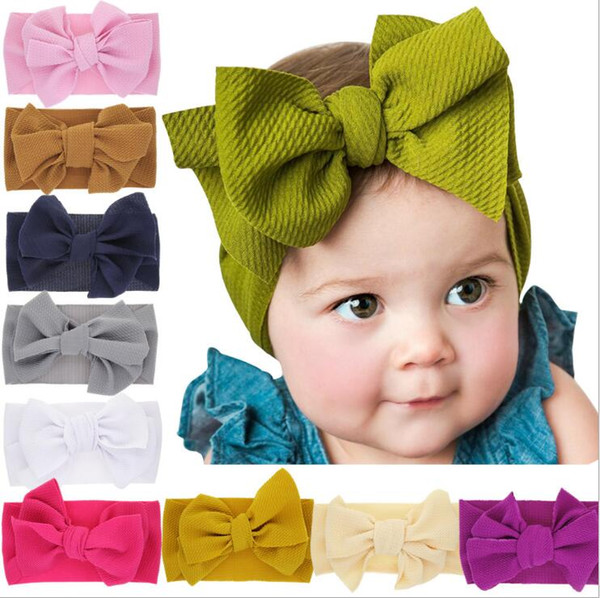 Infant  Elastic Turban  Bowknot Hairband Headwear  Baby Girl Headband