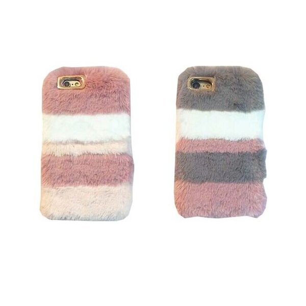 For Apple iPhone Xs XR Xs max 6 6s 7 7plus 8 whole sale Color Fluffy Rabbit Fur Silicon Phone Case top quality free shipping