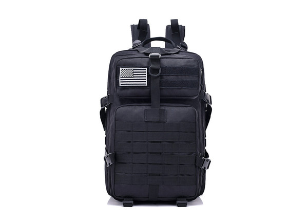 FK9252 40L 900D Military Outdoor Tactical Backpack with Hook-and-loop Fastener Black