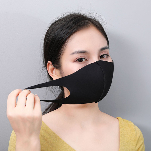 top popular Mouth Face Mask Black Cotton Blend Anti Dust and nose protection K-POP Mask Fashion Reusable Masks for Man Woman 2020