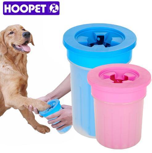 HOOPET Pet Gatti Cani Piedi Puliti Tazza Per Cani Gatti Strumento di pulizia Plastica morbida Spazzola per lavare Rondella Zampa Pet Accessori per cane