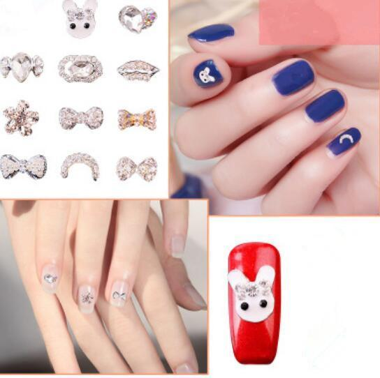 best selling F313-1 Nail Art Rhinestones Decorations Alloy Pearl Crystal Accessories Sticker Decals For Nails Makeup